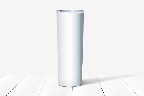 Custom Tumbler Skinny 20 oz Sliding Lid with Straw