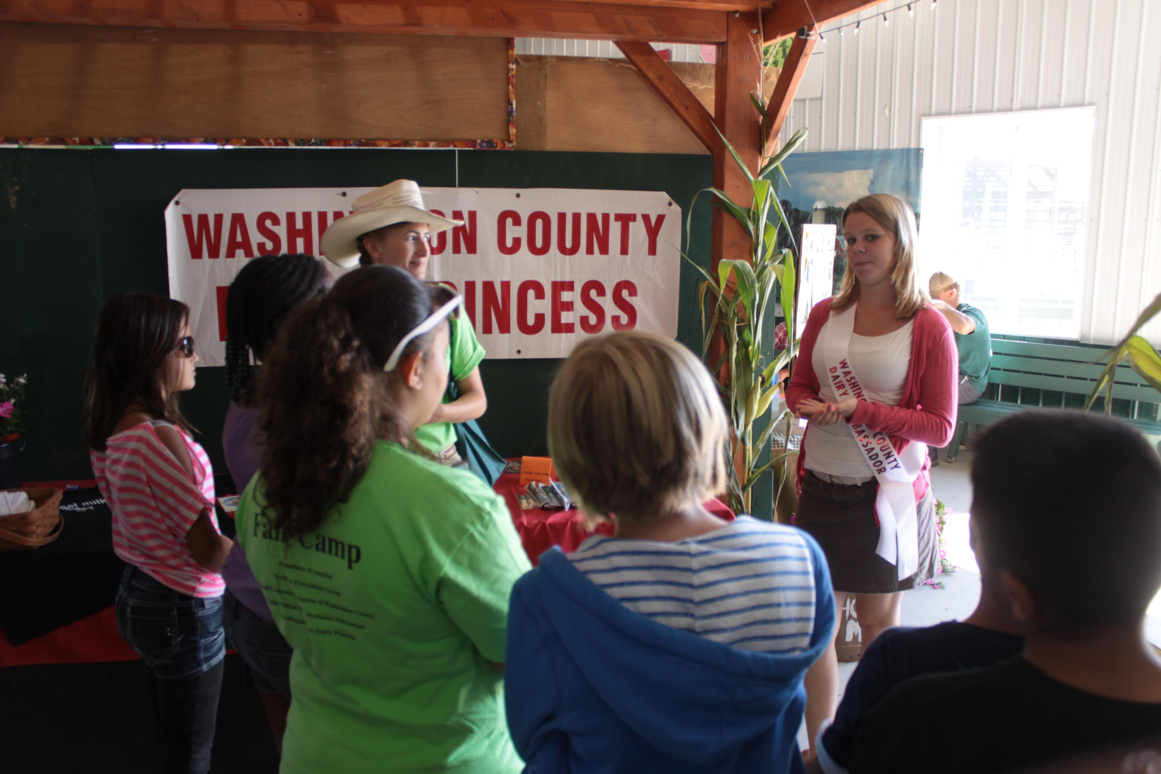 dairy princess fair camp