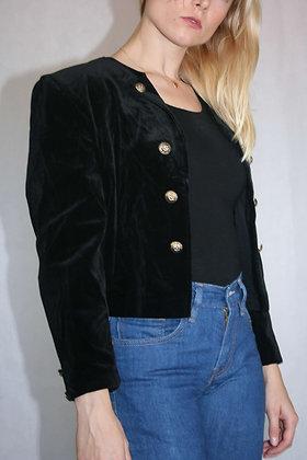 black velvet jacket, size XS