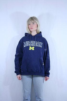 Reborn blue bleached hoodie