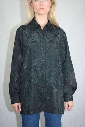 Black floral shirt, unisex