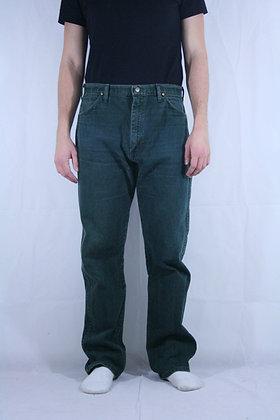 Wrangler dark green jeans W34