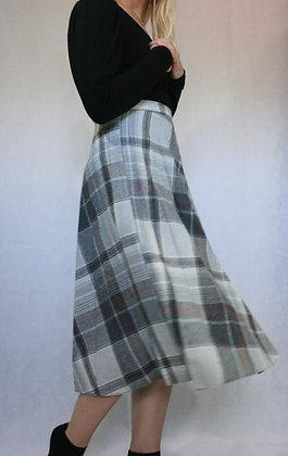 Light grey checkered skirt