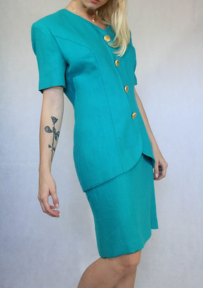 Turquoise colored dress, size M