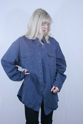 Oversised blue cotton shirt
