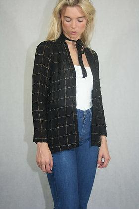 Black open shirt, size S