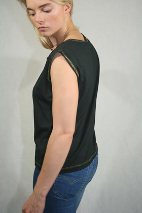 Black and golden tank top, size M