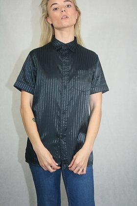 Black satin shirt, unisex