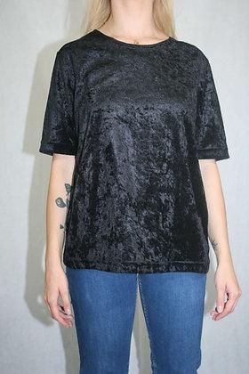 Black velvet t-shirt, size L