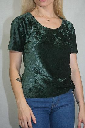 Green velvet t-shirt size, S