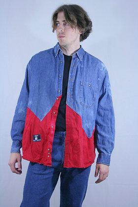 Reborn block shirt. L