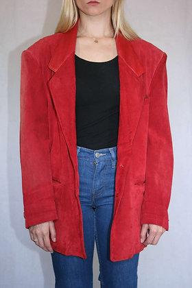 Red suede blazer, size M