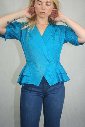 Turquoise blouse, size XS