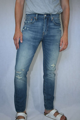 Levi's 512, tapered, distressed, light blue