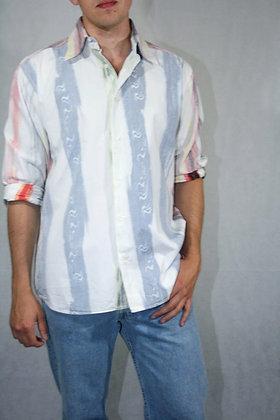 Striped Bastini shirt, size L