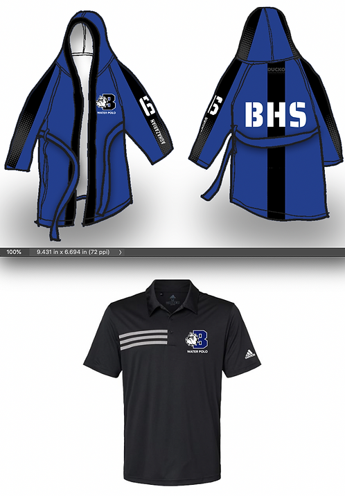 Burbank HS Robe+Polo Bundle