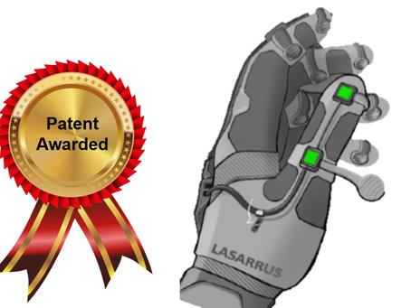 LASARRUS Awarded Utility Patent on Smart Glove Technology