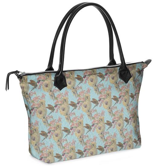 Art on a bag, Fische und Kolibri, himmelblau, ab 149 EUR