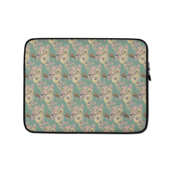Laptop-Tasche, Kolibri und Astronaut, Minze