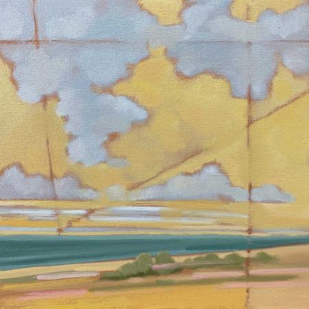 Öl auf Gessoboard 30 x 30 cm