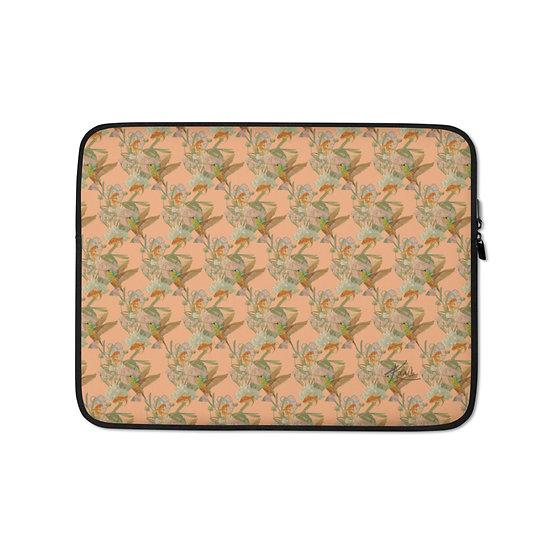 Laptop-Tasche, Kolibri & Fische, Pfirsich, ab 45 EUR