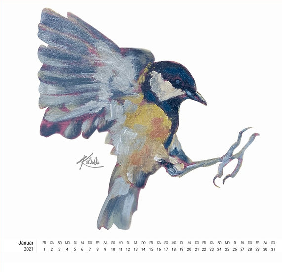 Jahreskalender 2021. Freche Heldinnen und süße Kerle