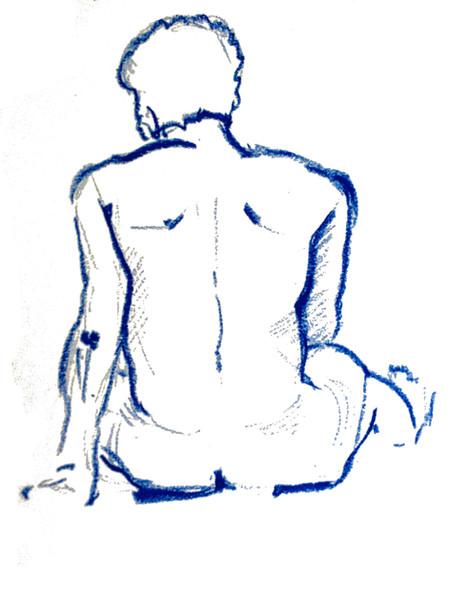 Männlicher Rückenakt