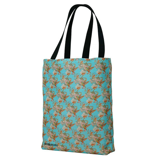 Cool shopper, asian blue, 40 x 40 cm