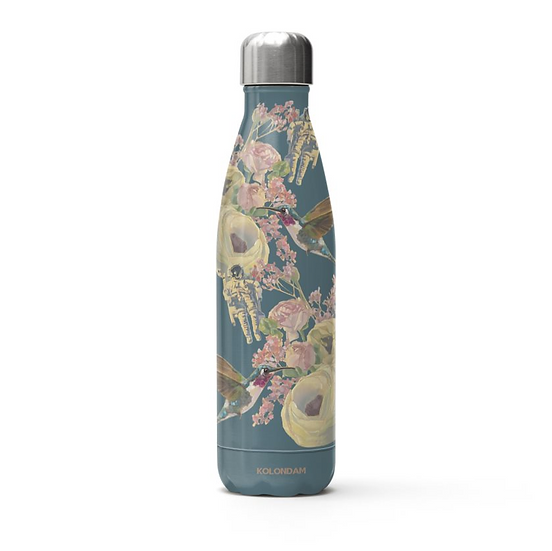 Thermos bottle, stainless steel, petrol
