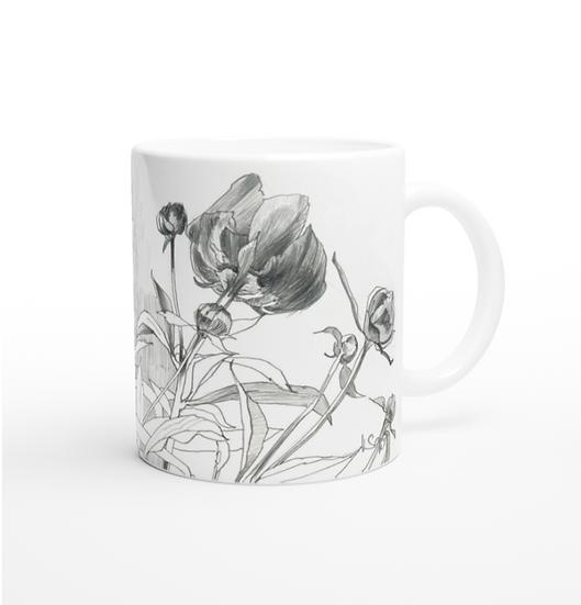 Keramiktasse Blumen Graphite 2
