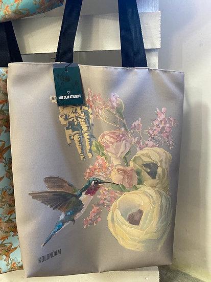 Shopper Astronaut und Kolibri