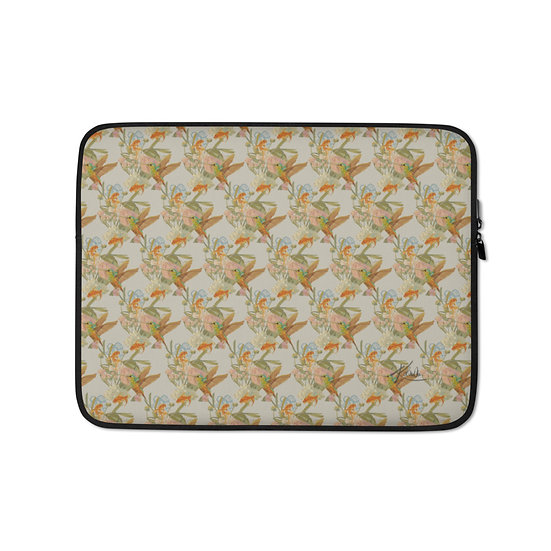 Laptop-Tasche, Kolibri & Fische, indonesian style