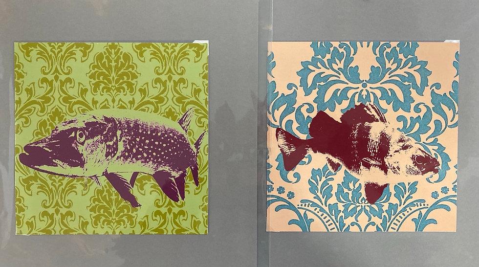 Fine Art Print, Fische, 20x20 Hahnemühle