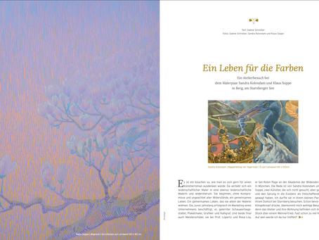 """""""Ein Leben für die Farben"""" - Ein Atelierbesuch bei dem Malerpaar Sandra Kolondam und Klaus Soppe"""