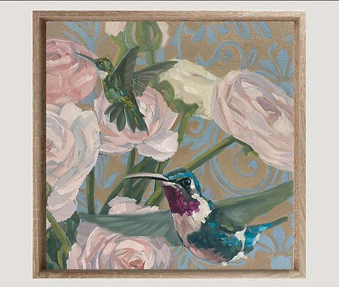 Ölmalerei, Unikat 30 x 30 cm, gerahmt mit einem Schattenfugen-Rahmen