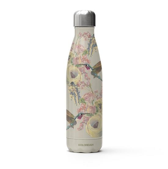 Thermosflasche, Edelstahl, beige