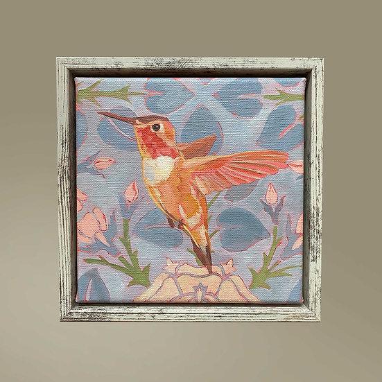 Ölmalerei, Unikat 20 x 20 cm, gerahmt mit einem Schattenfugen-Rahmen