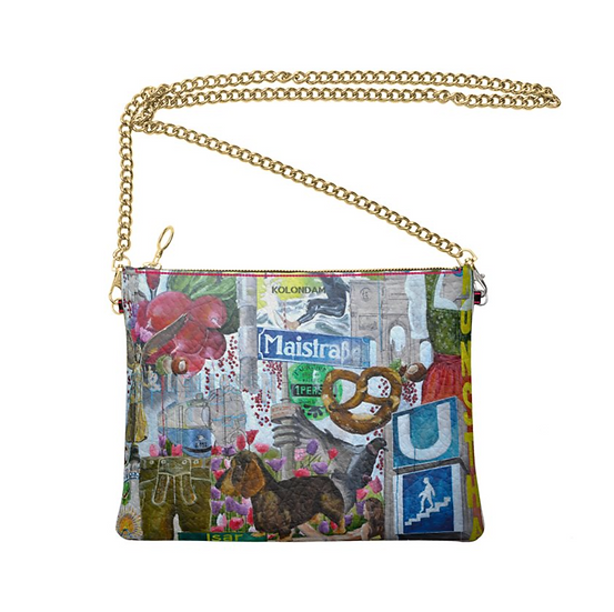 Art on a Bag, Leder-Umhängetasche
