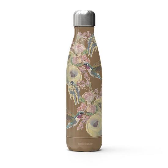 Thermosflasche, Edelstahl, braun