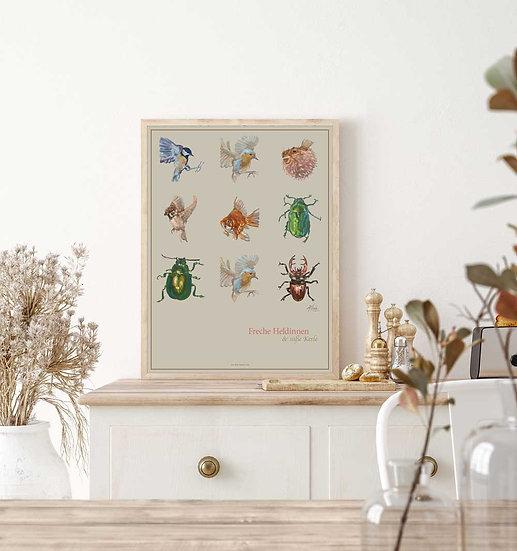 """Poster """"Freche Heldinnen und süße Kerle"""", 80 x 60 cm"""
