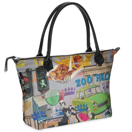 Art on a Bag, Henkeltasche, Leder