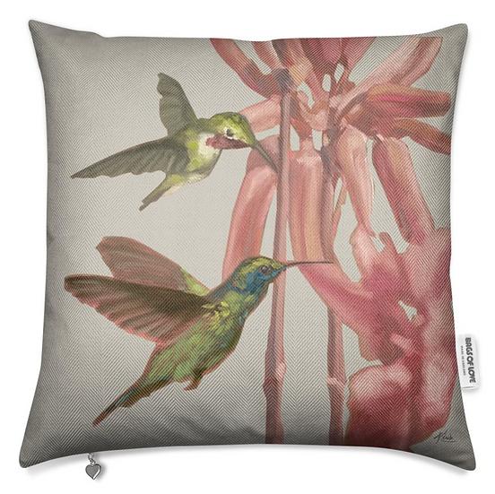 Premium-Kissen, Kolibri und exotische Blumen, ab 79 EUR