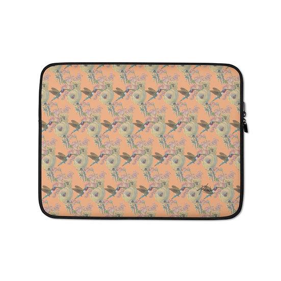 Laptop-Tasche, Astronaut & Kolibri, pfirsich