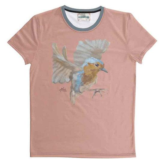T-Shirt Rotkehlchen, unisex