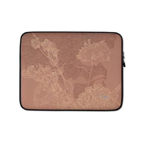 Laptop-Tasche, Blumen rose