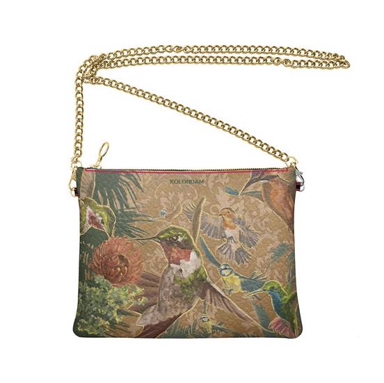 Art on a Bag, Leder-Umhängetasche