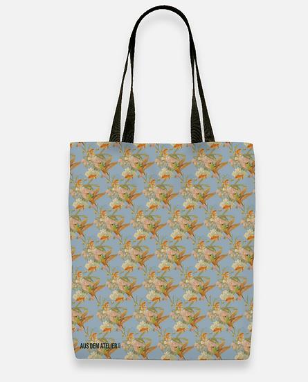 Coole Shopper, grau/blau, 40 x 40 cm