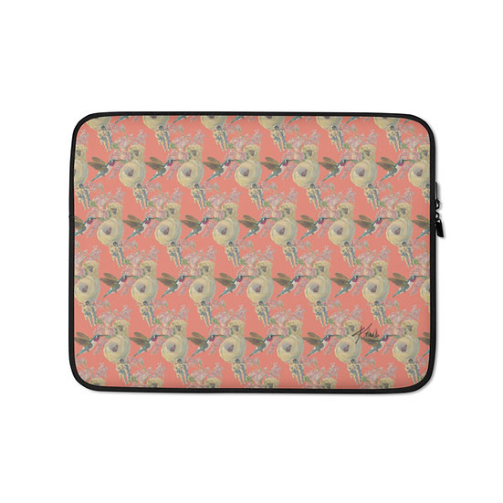 Laptop-Tasche, Kolibri & Astronaut, Apricot