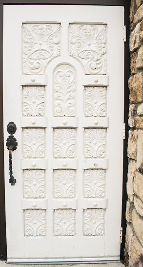 old handmade door at Jonathan K. Davis, DDS, dentist in Findlay, OH