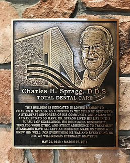 Memorial Plaque for Dr. Spragg at Jonathan K. Davis, DDS, dentist in Findlay, OH